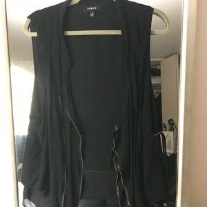 Torrid black vest with zipper detail